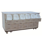 Stainless steel traditional Chinese medicine cabinet D6
